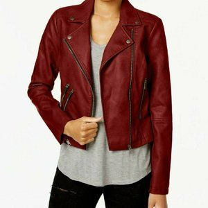 Coffee Shop NY Faux Leather Coat CA098A42MJ
